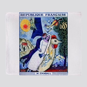 1963 France Les Fiancees Chagall Painting Stamp Th
